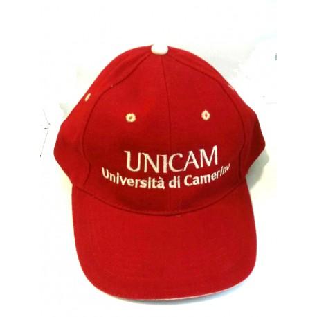 Cappellino con visiera Unicam Rosso