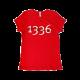 T-shirt rossa manica corta donna