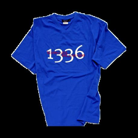 T-shirt blu manica corta uomo