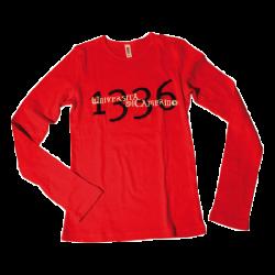 T-shirt rossa manica lunga