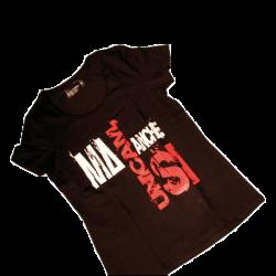 T-shirt nera donna
